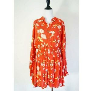 Free People Coral Pattern Dress